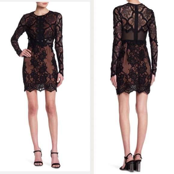 94bb85ad0bd2 Kendall & Kylie Dresses | Kendall Kylie Black Longsleeve Lace Dress ...